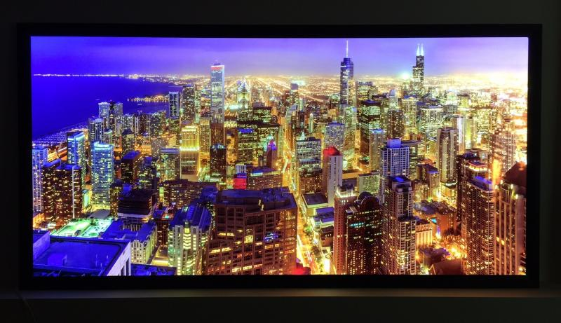 "Ultra Click Thin Custom Illuminated LED Snap Frame 48"" x 96""  2-1/2"" Profile"